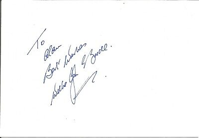 Willie John McBride MBE signed dedicated card, Rugby Player E1818