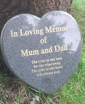 Memorial Grave Plaque Stone Engraved Headstone Large Dark Grey Granite