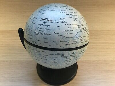 Replogle Lunar Moon Globe Topographical Map-Gyroscopic Twin Axis.        (MJ705)