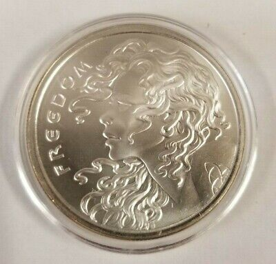 2015 Freedom Girl Silver Shield Silver Round Coin 1 Troy oz .999 Fine