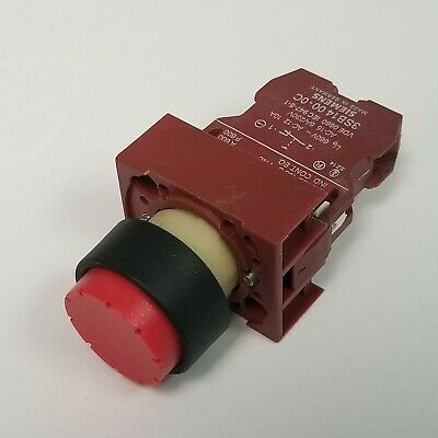NET OMRON A3BA-7111-2R DUAL SPST RED LIGHTED MOMENTARY PUSHBUTTON SWITCH