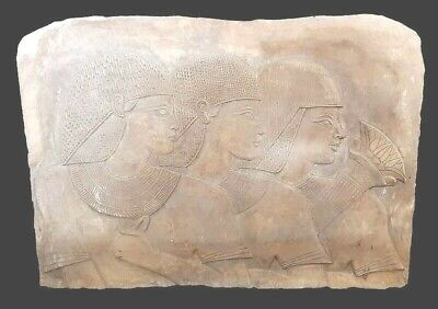 Large Egyptian Relief Stela Bc Stone Ancient Antique Rare Carved Wall Art Scene