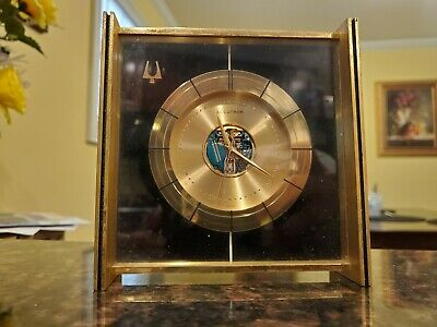 Vintage Bulova Accutron Desk or Table Clock w/ 214 Tuning Fork Movement