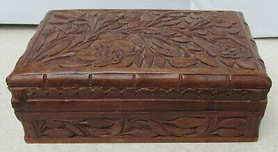 A Vintage, Hand-Carved Wooden Box