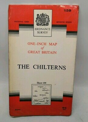 1968 Ordnance Survey One Inch Map - The Chilterns - Sheet 159 - Aylesbury Tring