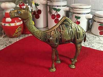 Brass Camel Figurine Decorated with detailed etchings nice piece Hump Day