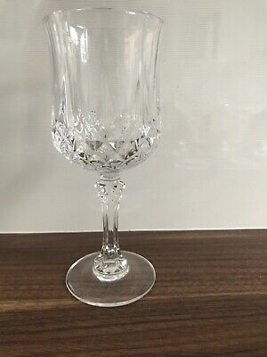 "Set Of 4 Cristal D'Arques Longchamp 24% Lead Crystal Wine Glasses 7 1/4"" Tall"