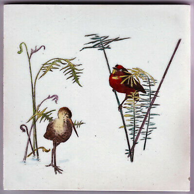 Tile Coloured Transfer Printed Aesthetic Design Mintons Early C.1900'S
