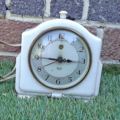 Art Deco Smiths Sectric Cream Bakelite Electric Mantle / Alarm Clock - UNTESTED