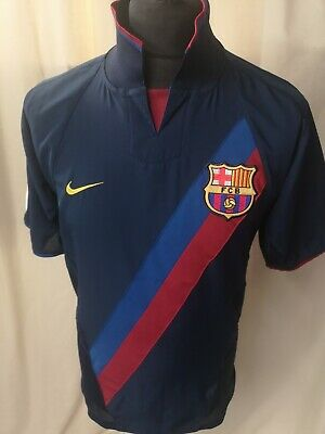 Barcelona Barca 2003-2004 Home Nike Football Soccer Shirt Jersey Small Adult