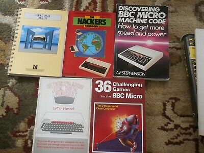 VINTAGE COMPUTING 5 BBC COMPUTER USER GUIDES MANUALS BOOKS 1980s