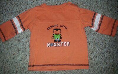 CARTER'S Orange Daddy's Little Monster HALLOWEEN Top Boys Size 6 months