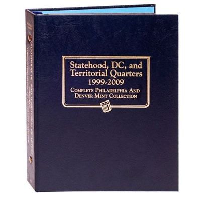 New Whitman OFFICIAL Statehood Quarters 1999 - 2009 P&D DC STATE Album BOOK#2821