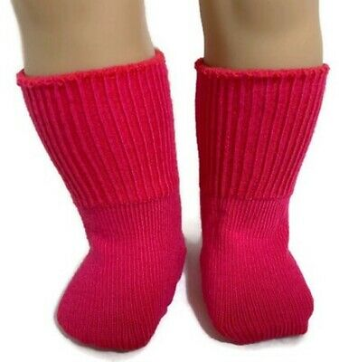 Dark Pink Knit Sport Socks made for 18 inch American Girl Dolls Accessories