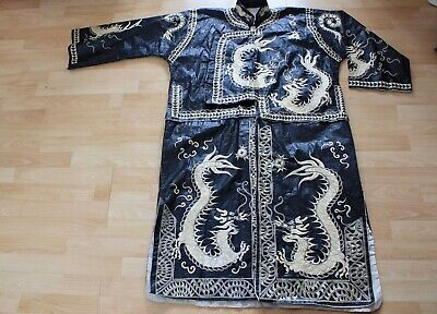 Rare Antique Chinese Robe Dragon silk Embroidery Ceremonial/dynasty/dong/ e