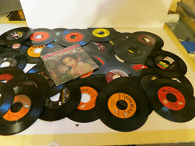 Lot of (40) 45RPM Vinyl Records - Jukebox or Your Collection 50's & 60's