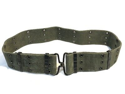 Vintage Vietnam Era Us Military M1956 M Pistol Web Belt Individual Equipment Vgc