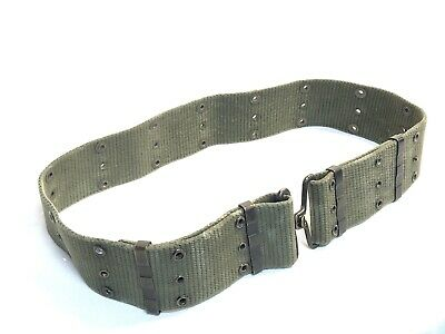 Vintage Vietnam Era Us Military M1956 L Pistol Web Belt Individual Equipment Vgc