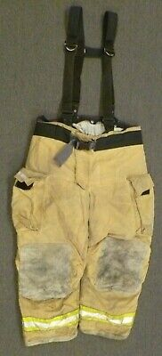44x30 Globe Gxtreme Firefighter Pants Turnout Bunker Fire Gear w/ Suspender P105