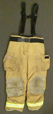 44x34 Globe Gxtreme Firefighter Pants Turnout Fire Gear w/ Suspenders P0105