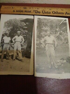 WW2 African american military soldiers lot of 2
