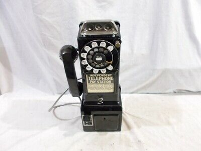 Dated 1955 - 1961 E233 QF 3-Slot Payphone with Western Electric Bell Tag