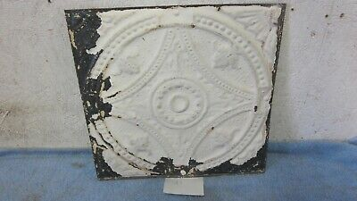 "Antique 12 "" x 12 ""  Salvaged  Detailed Victorian Metal Tin Ceiling Tile"