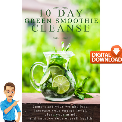 10 Day Green Smoothie Cleanse e. book Healthy  Lifestyle & Lose Weigh Guide