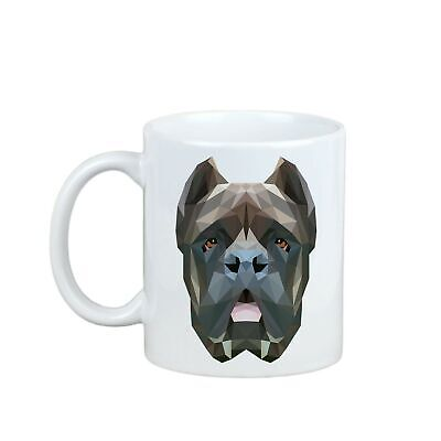 Cane Corso Mug with Geometric Dog Enjoying a cup with my pup High Quality UK