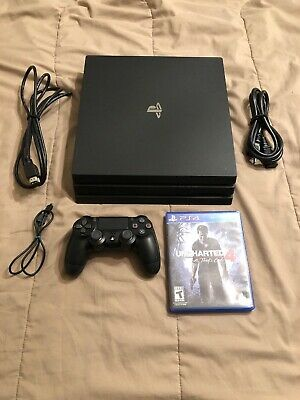 Sony PlayStation 4 PS4 Pro 1TB 4K Console - Black - Gently Used - Fast/Free Ship