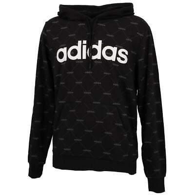 SWEAT CAPUCHE HOODED Adidas Aop hdy blackwht l Noir 16785 Neuf