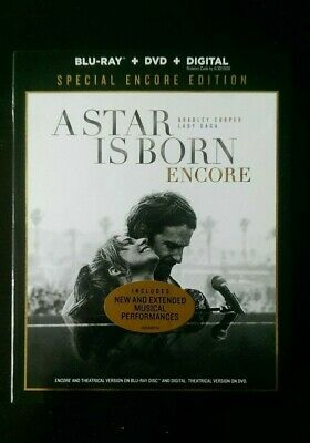 A STAR IS BORN (Blu-ray + DVD + Digital) SPECIAL ENCORE EDITION - Sealed & New!