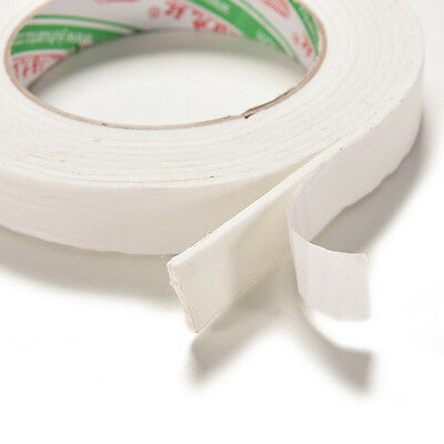Double Sided White Foam Sticky Tape Roll Adhesive Super Strong 1.8*300cm  WU