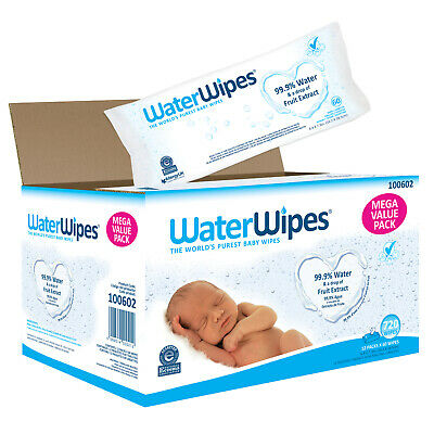 WaterWipes Sensitive Baby Wipes, Unscented, 720 Count