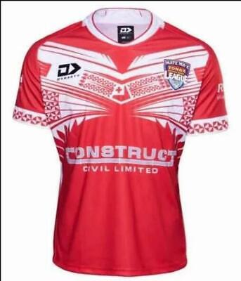 New 2019-2020 Tonga Home Rugby jerseys T shirt man Size:S-3XL