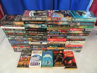 HUGE Lot of (69) SCIENCE FICTION SCI FI Books ISAAC ASIMOV HALO ORSON SCOTT CARD