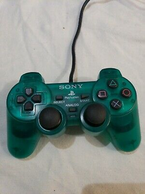 Genuine Sony PlayStation 2 PS2 green Controller SCPH-10010 Dual Shock 2 Wired