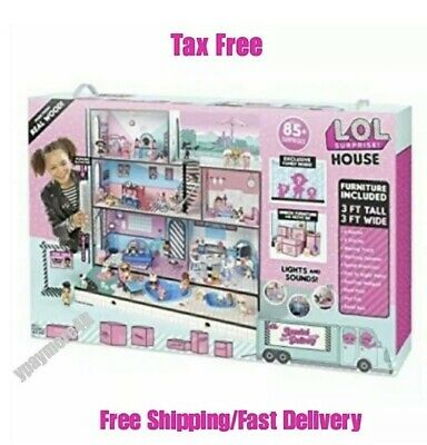 LOL Surprise Doll House for Little Girls w/ 85 Multicolor Dollhouses New L.O.L.