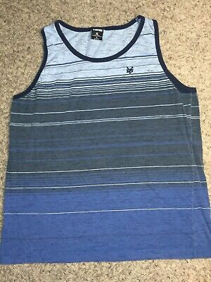 nike GLORY TOP-STRIPED TANK LT WHITE GREY US MENS SIZES 639301-101