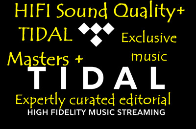 TIDAL HIFI✅ Sound Quality🔥✅ 2 MONTHS✅ GUARANTEED🔥✅ - INSTANT DELIVERY🔥✅