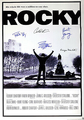 ROCKY MOVIE Poster Signed by 5 cast members, Excellent condition replica