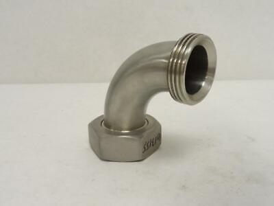 "178595 Old-Stock, T&T 1-1/2"" 2F-90 Sweep Elbow With Hex Nut, SS-304, 90Deg 1-1/2"