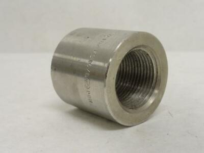 "178758 Old-Stock, Industry-Std 48UG83 Adaptor Coupling, SS-316, 1-1/2"" FSW x FNP"