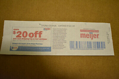 Meijer Pharmacy Earn $20.00 off Your Next Shopping Trip/Fuel Expires 8/21/2019