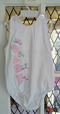 Vintage 80's baby girl Spring Summer one piece size 1