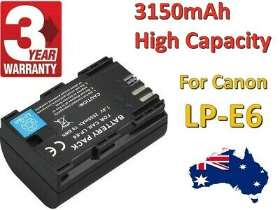 LP-E6N Battery for Canon 5D4 6D 6DII 7D 7DII 5DII 5DIII 60D 2650mAh FAST CHARGE