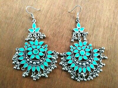 Indian Traditional Oxidized Designer Afghan Bollywood Indian Hook Latest Earring