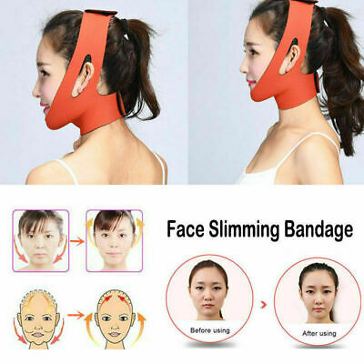 Facial Thin Face Slimming Bandage Mask Belt Shape Lift Reduce Double Chin HQ