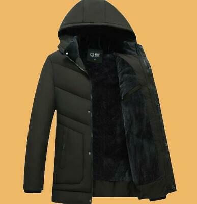 Mens Winter Warm Cotton Jacket Hooded Coat Outwear Trench Fashion Over Jackets