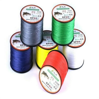 Fishing Line,FTXJ 500M PE Strong Power Braided Lines Strands Wire